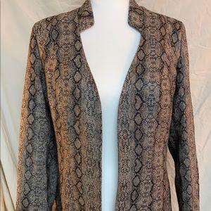 Snakeskin print blazer size medium from Ark & CO